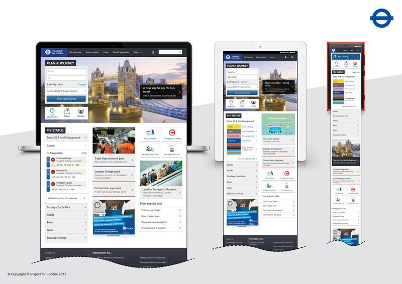 A look at why Transport for London online, a Microsoft house