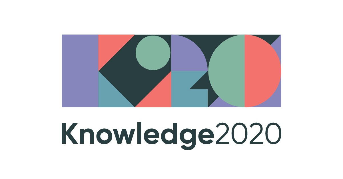 Image of Knowledge 2020 logo servicenow