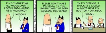 Holacracy via Dilbert