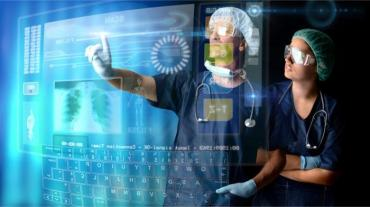 Doctors in a research station with digital touch screen © Luis Louro - Fotolia.com