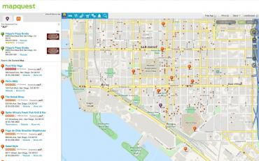 Monetizing the API at Mapquest on bing maps, yahoo! maps, google maps,