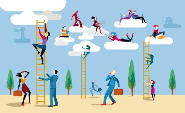People use ladders to work in cloud graphic © jesussanz - Fotolia.com