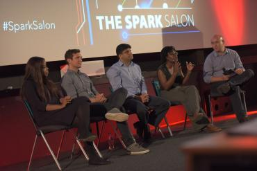 l-r dayo, danail, rahul, ade and interviewer