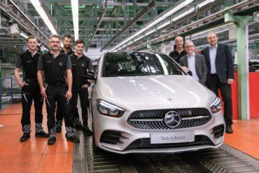 Fortsetzung der Anlaufkaskade der nächsten Kompaktwagengeneration: Mercedes-Benz Werk Rastatt startet Produktion der neuen B-KlasseContinuation of ramp-up cascade of next-generation compact cars: Mercedes-Benz Rastatt plant starts production of the new