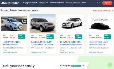 Auto Trader UK screen grab from website