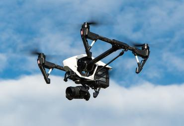 Image of a flying drone