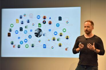 Drew Houston, CEO, Dropbox at app launch 2019-06 by @philww