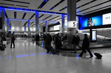 Image of Heathrow baggage hall