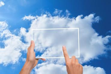 Image of someone using cloud computing