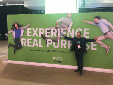 Mike Ettling with Unit4's new people experience branding