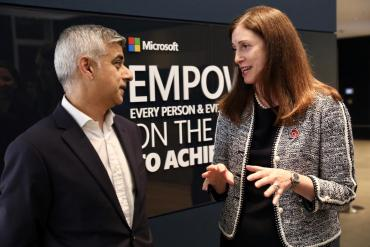 Image of Sadiq Khan and Microsoft UK CEO