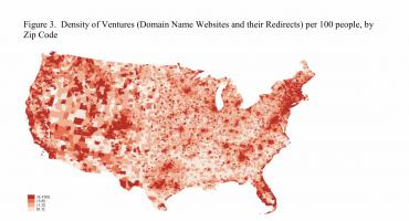 Image of  highly active ventures mapped across USA