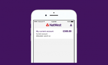 Image of the NatWest banking app