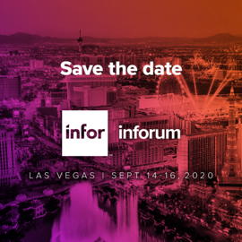 Inforum 2020 save the date panel
