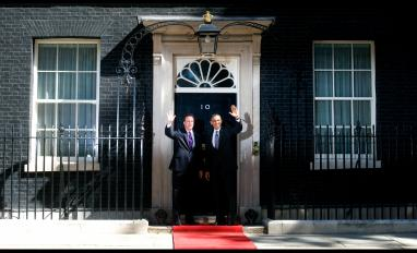 US President Barack Obama in Downing St day 2