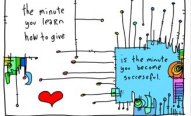 Learning to give - gapingvoid