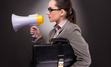 businesswoman-bullhorn