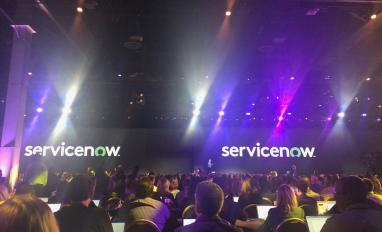 ServiceNow CEO John Donahoe on stage at Knowledge18