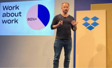 Drew Houston, CEO, Dropbox at app launch 2019-06 by @philww