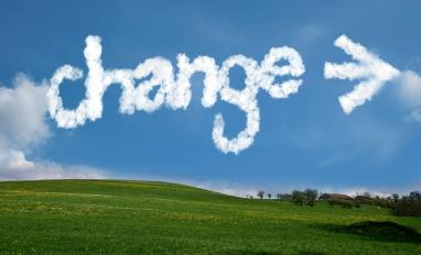 Image of the word change in the clouds