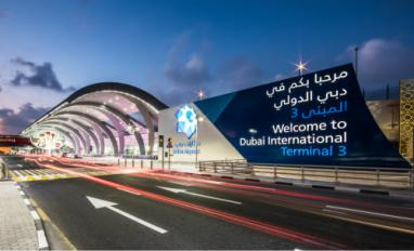 Dubai Airports DXB T3 welcome sign