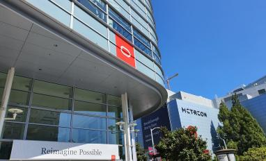 Image of Moscone Centre during Oracle OpenWorld