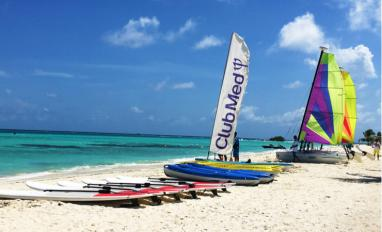 Water sports equipment on beach at Club Med Kani, Maldives © Akram Rahim - shutterstock