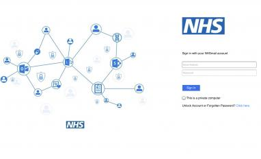 Image of NHSmail login