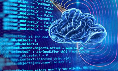 Code with brain artificial intelligence AIOps concept © Antonov Serg - shutterstock