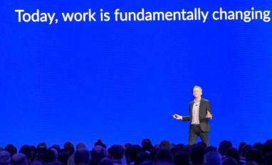 Box CEO Aaron Levie speaks at Boxworks 2019