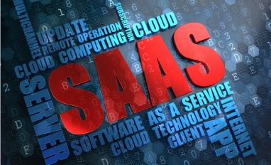 Red SAAS surrounded by cloud of blue words © Tashatuvango - shutterstock