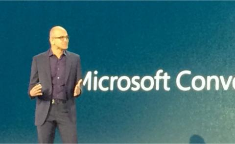 Satya Nadella, Microsoft CEO, at Convergence 2015 by @rwang0