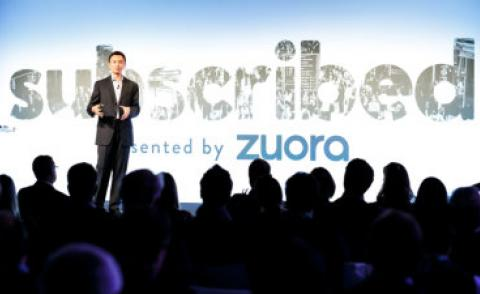 Tien Tzuo CEO speaks at Zuora Subscribed 2016 in London