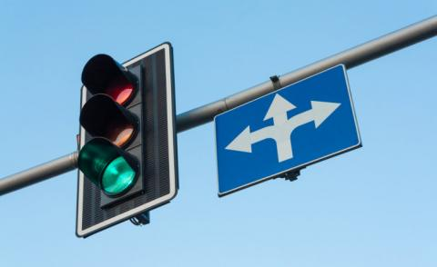 Traffic lights green with open turn sign © eightstock - Fotolia.com