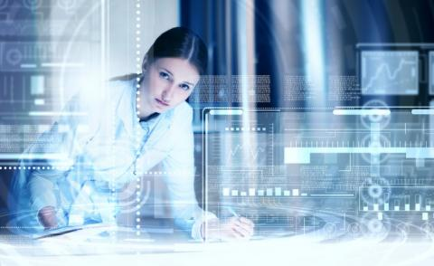 Woman scientist working with digital technologies © Sergey Nivens - Fotolia.com