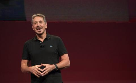 Larry Ellison smiling