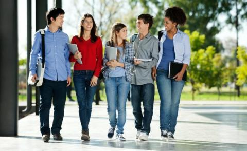 College students group walking on campus © Tyler Olson - Fotolia.com