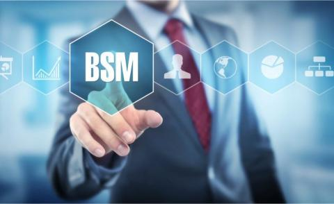 Man points out BSM business spend management © Coloures - Fotolia.com