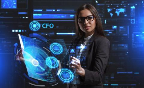 Business woman virtual screen technology CFO © photon_photo - Fotolia.com