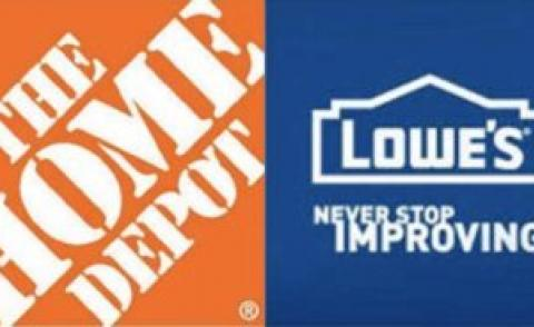 Lowe's and Home Depot - home improvement retailers in search