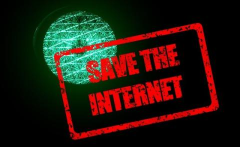 Image of Save the Internet sign