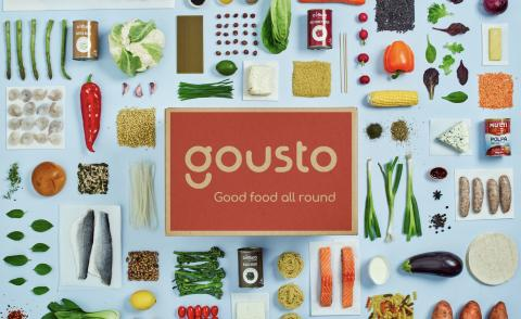Image of Gousto logo and food