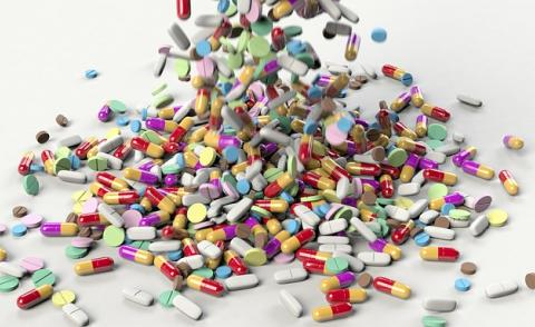 Image of a pile of drugs