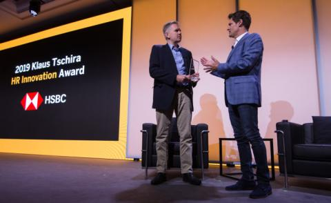 SuccessConnect EMEA 2019 Alex Lowen HSBC receives Klaus Tschira Award from Greg Tomb SAP SuccessFactors