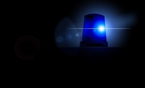 Image of a blue ambulance light