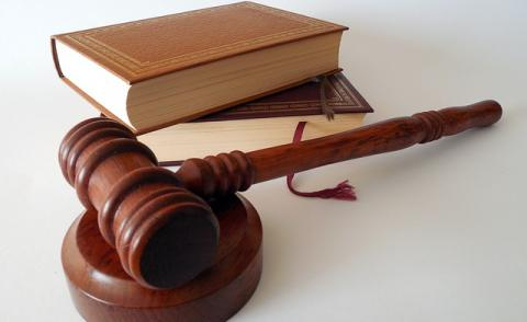 Image of law books and a gavel