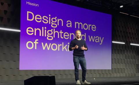 Drew Houston, CEO, Dropbox speaks at Work in Progress 2019