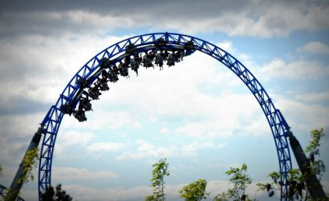 Roller coaster with cloud background © gdesrx - shutterstock