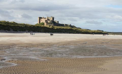 Image of a castle in Northumberland