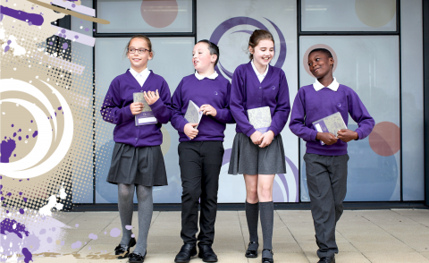 Image of students at Outwood Academies school